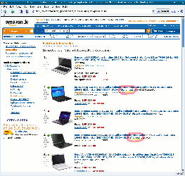 Amazon bestsellers screen shot
